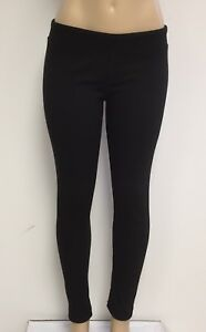 Ladies-Cotton-Spandex-Rib-Knit-Legging-Pant-Sizes-S-M-L-XL-Color-Black-NWT