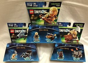 Lord-Of-The-Rings-LEGO-Dimensions-LOT-of-3-Fun-Packs-NIB