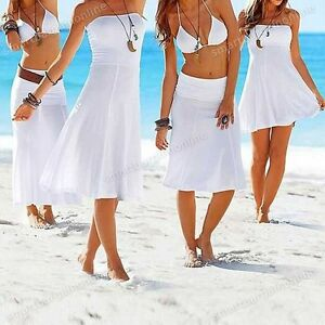 Women-Lady-Beachwear-Wedding-Party-Cocktail-Evening-Maxi-Dress-Cover-Up-Skirt