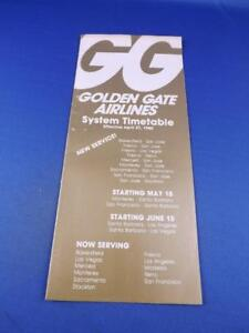 GOLDEN-GATE-AIRLINES-TIMETABLE-SCHEDULE-1980-TRAVEL-ADVERTISING-FLYING-PLANE