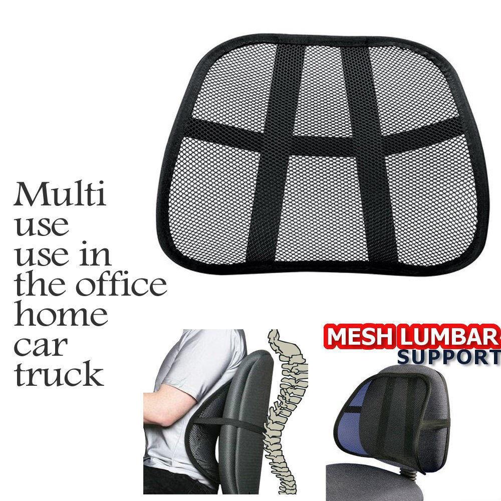 Cool Mesh Back Lumbar Support Vent Cushion Car Office