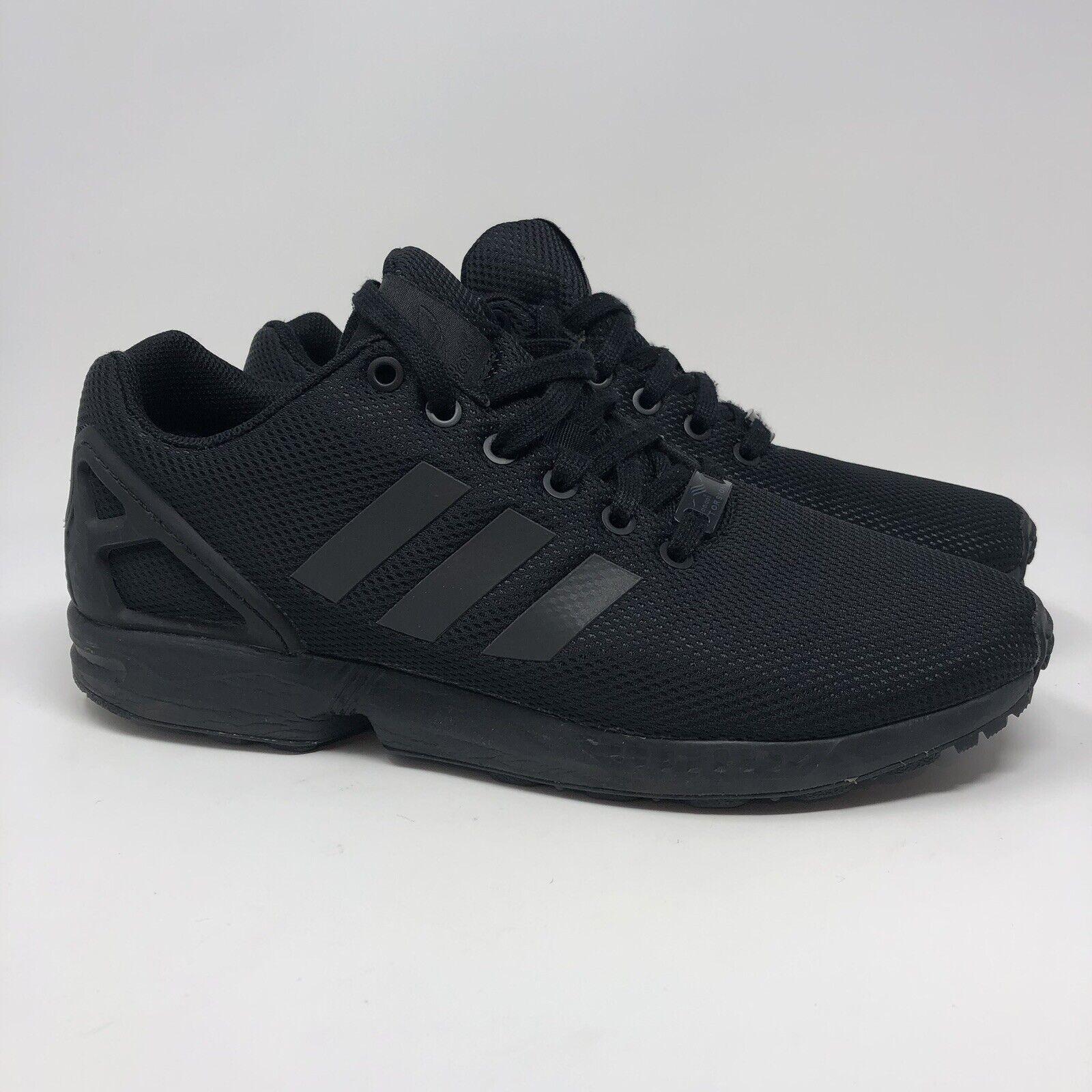 official photos dc0c9 db06e [Adidas] S79092 Original ZX Flux Triple Black Running Shoes Sneakers Mens  Size 9