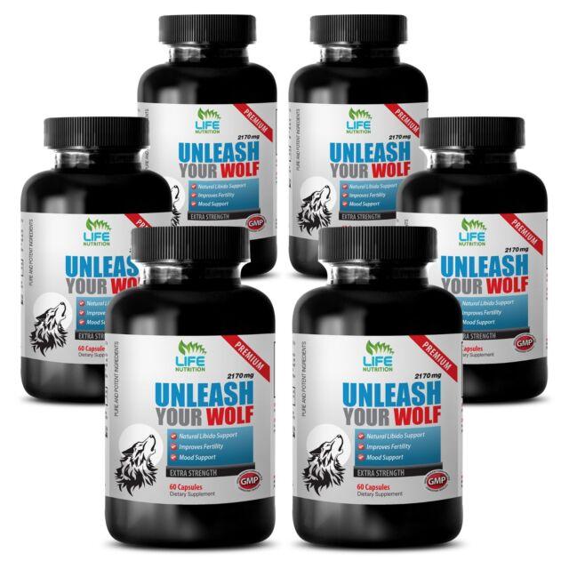 Testosterone Supplements - Unleash Your Wolf 2170mg - Best Male Enhancement 6B eBay