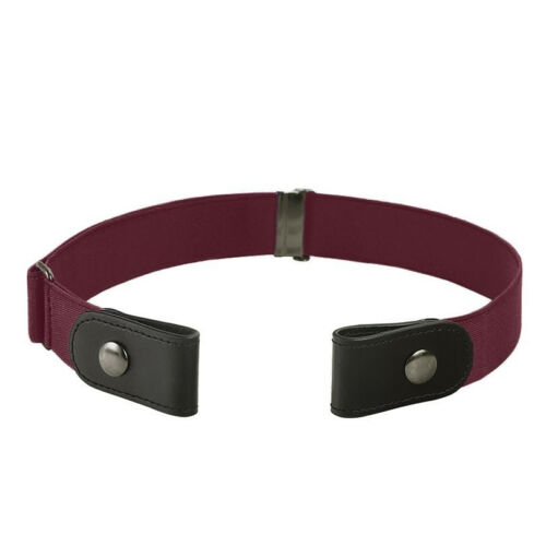 Women/'s Buckle-Free Elastic Belts Invisible Belt for Jeans No Bulge Hassle Band