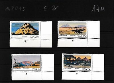 Southwest 524-527 Neuf Pièces D'angle Originales Namibia Topical Stamps Stamps