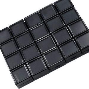 Aufstrebend 20stück 3x3cm Großhandel Edelstein Display Kunststoff-box Lagerung Für Edelstein