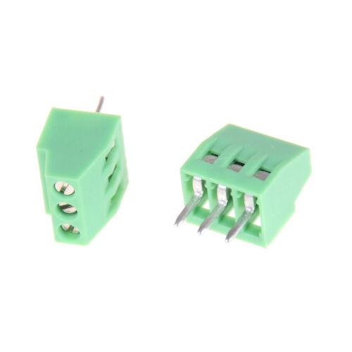 10pcs 3 Poles KF128 2.54mm PCB Universal Screw Terminal Block hy