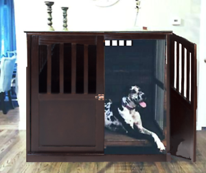 Image Is Loading Xl End Table Indoor Wood Extra Large Dog