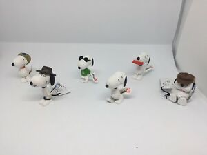 Peanuts-6-x-Snoopy-Schleich-Set-Spielfigur-Sammelfigur-Figur-NEU-with-TAG