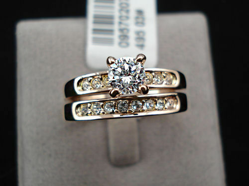1 Pair Luxury Ring Rose Gold 18 K Plated Crystal Engagement Valentine's Day Gift