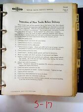 Vintage 1940 International Truck Service Bulletins Shop Talk Supplements Manual