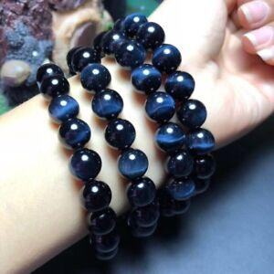 10mm Natural Blue Tiger's Eye Gemstone Round Beads Bracelet AAAA