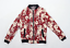 thumbnail 1 - Sky Home Womens Size L Cotton Floral Red Bomber Jacket