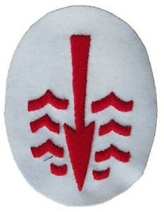 Kriegsmarine Musician Senior Specialist Trade Badge WW2 Repro Patch White New