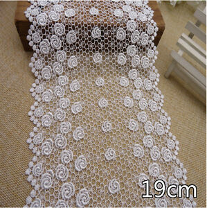 1-Yard-White-Rose-Vintage-Flounce-Delicate-Net-Lace-Trim-7-1-2-034-Wide