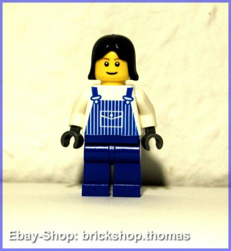 LEGO Figurine City ovr033 elle travaille avec bleues overall-Minifig-Neuf//New