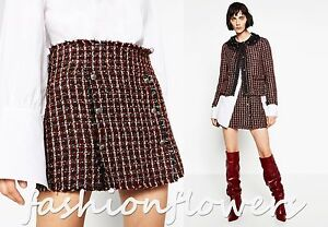 ZARA-WOMAN-NEW-2016-2017-COLLECTION-BUTTONED-MINI-SKIRT-Size-XS-BLOGGERS
