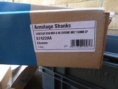 * Nuovo * Armitage Shanks S7422aa Cromo Contorno Supporto A Parete Rubinetto Miscelatore Lavabo 150mm-