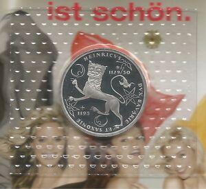 10 Dm Silber Münze Brd 1995 F Spiegelglanz Heinrich Der Löwe