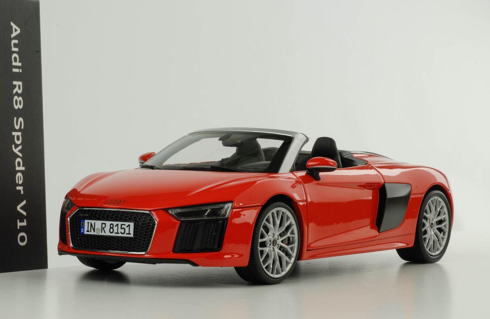 Audi R8 V10 Spyder dynamite red diecast 1 18 iScale Dealer