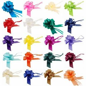 Ideal As Gift Wrap Florist Large Plain Pull Bow Wedding Bow width 50 mm