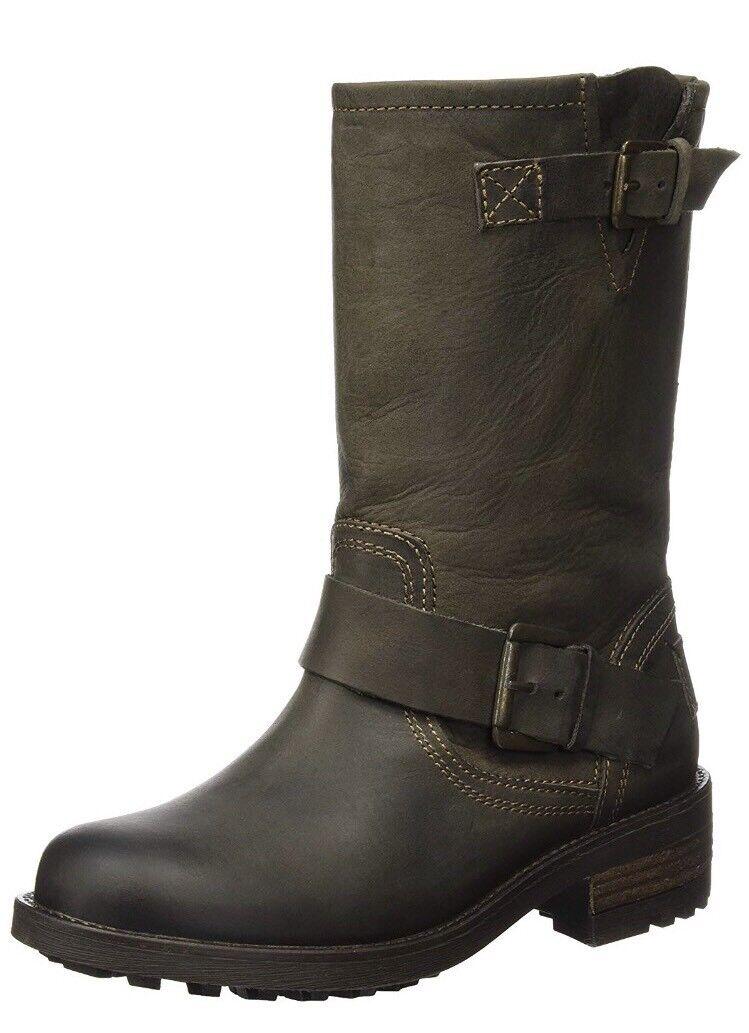 Bullboxer para mujer Botas 427500E6L, marrón marrón oscuro (dkbw), 7 EU