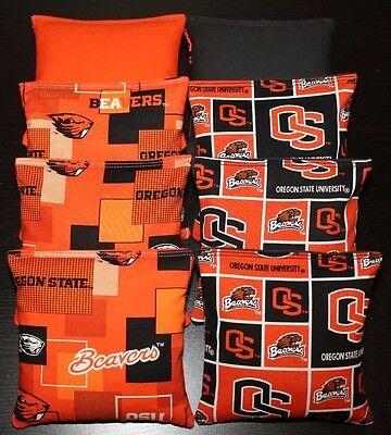 Oregon State Beavers 8 Cornhole Bean Bags Baggo Toss Game