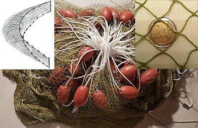 Abfischnetz Zugnetz 4-20m H2m MW20mm mit Fangsack Fischnetz Nylon Schleppnetz.