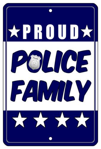 """8/""""x12/"""" METAL SIGN POLICE #4 Officer Dept Cop Hero Law Enforcement Blue Line Gift"""