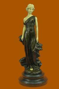 Signed-PREISS-Large-Bronze-Sculpture-Art-Deco-Roman-Dancer-Statue-Figure-Sale