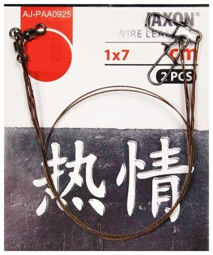Jaxon Sumato 7 Strand Steel Wire Spinning Trace Leaders 2p Pike Predator Fishing