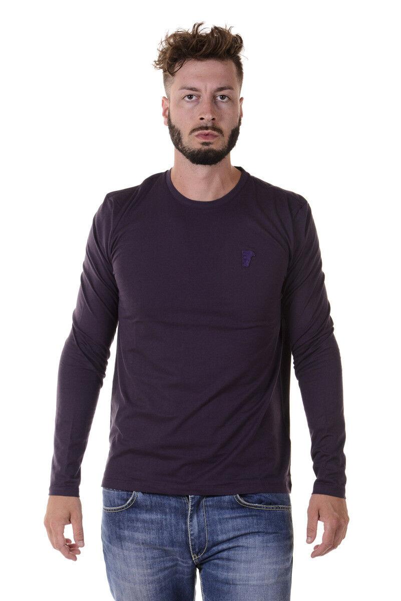 T shirt Versace Collection Sweatshirt Cotone hommes violet V800491VJ00180 V1321