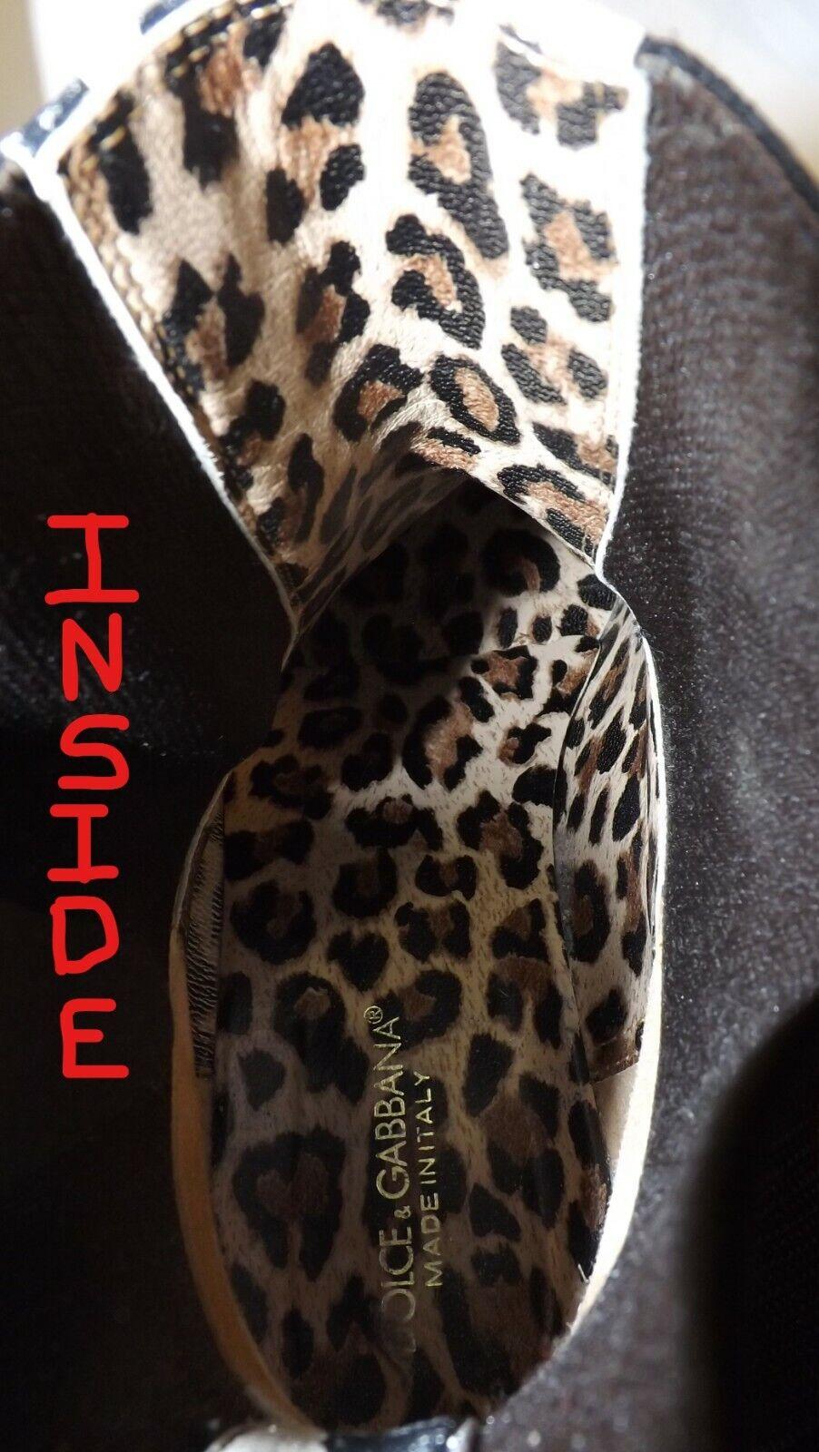 Women's Designer Boots Zebra Animal Print b/w Dol… - image 11
