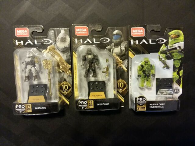 Mega Construx Halo Heroes Anniversary 10th & 11th Tartarus + Chief + The Rookie