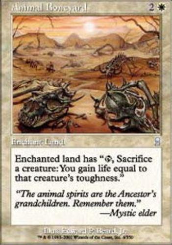 4x Animal Boneyard MTG Odyssey NM Magic Regular