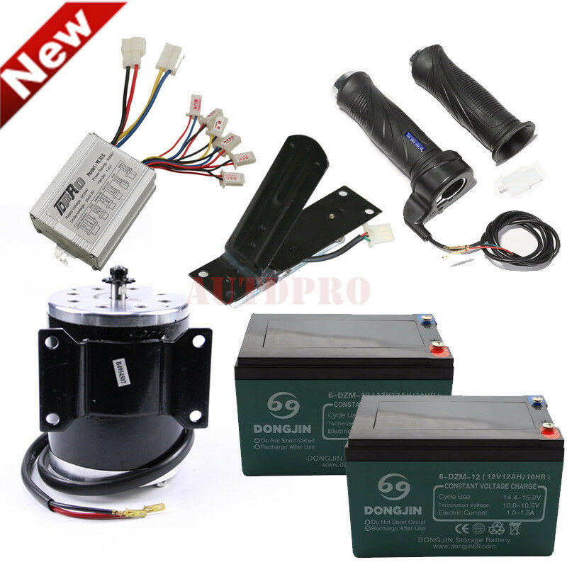 12v Battery 500W 24V DC Electric Motor Grip Foot Pedal For Scooter E-Scooter ATV