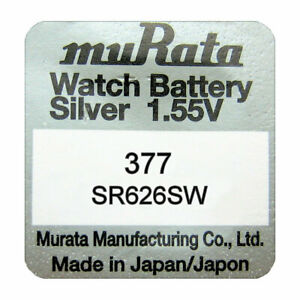 Murata-SR626SW-377-SR66-Silver-Oxide-Watch-Batteries-SELECT-1-2-3-4-5-amp-10-x-QTY