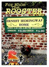 For Whom The Rooster Crows Postcard Ernest Hemingway Home Key West Florida