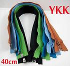 New YKK 40cm Nylon Fashion Dress Zip / Zipper Open End