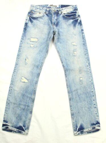 Claudio Milano Men/'s Distressed Jeans Mid Rise Denim Retail $160