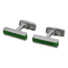 Montblanc Deco Steel Cuff Links with Jade Inlay 111319