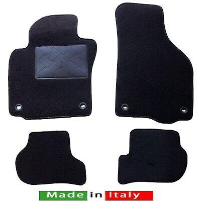 Tappetini tappeti per Skoda Octavia 04/>13 moquette di qualità,battitacco,velcro