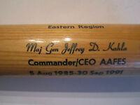 1985-1991 Maj Gen Jeffery D. Kahla Ceo Aafes Louisville Slugger Baseball Bat