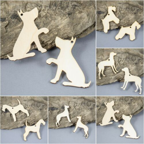 Wooden Dogs Dog  LOVER Pet Decoration Birch Plywood MDF Wooden Hanging Shape