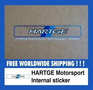 Sticker for BMW Hartge INTERNAL decal Aufkleber UK Classic RETRO Classic