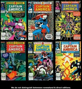 Captain-America-1st-Series-357-358-359-360-361-362-Set-Run-Lot-357-362-VF-NM