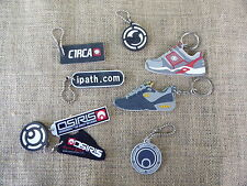 Lot Of SKATEBOARD SHOE Tag Keychain Circa Osiris iPath DC Danny Way Dyrdek Skate
