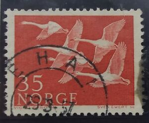 Hospitalier Timbre Stamp Norvège Norge Norway 1956 Yt 371 Oblitéré Excellent Effet De Coussin
