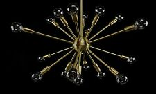 Sputnik Atomic Modern Light Lamp Chandelier Brushed Brass 50's Mid Century Eames