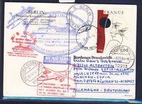 48837) LH FF München - Sofia Bulgarien 30.10.94, card MS Berlin France Bordeaux